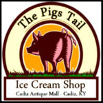 The Pigs Tail Ice Cream Shop Logo