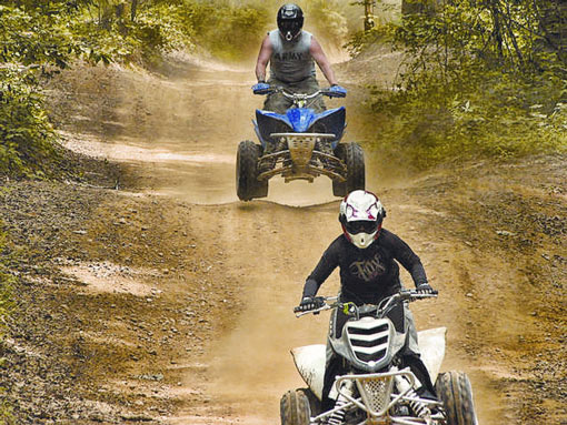 4wheelers on ATV Turkey Bay track
