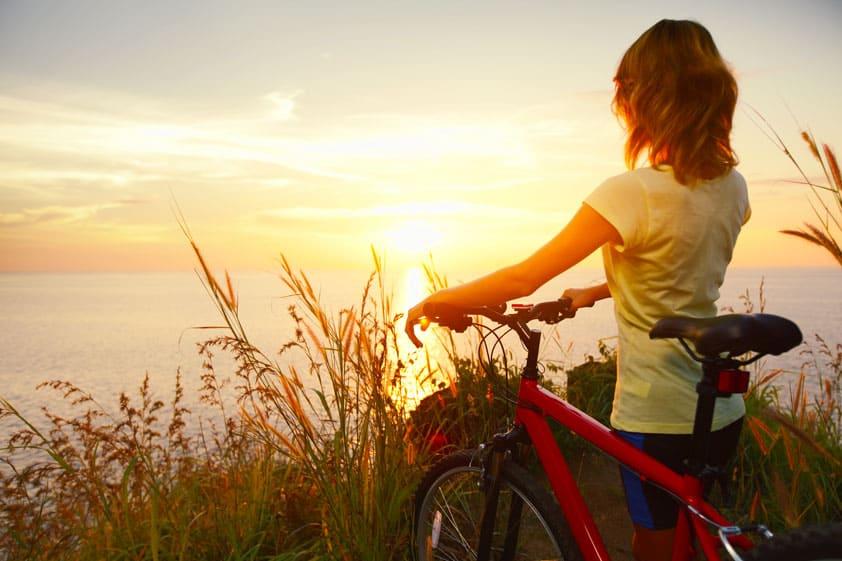 Young Woman Mountain Biker