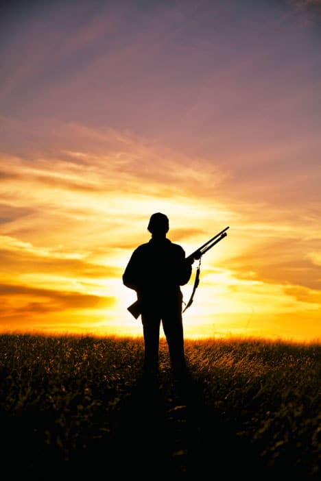 Solo Gun Hunter at Sunset