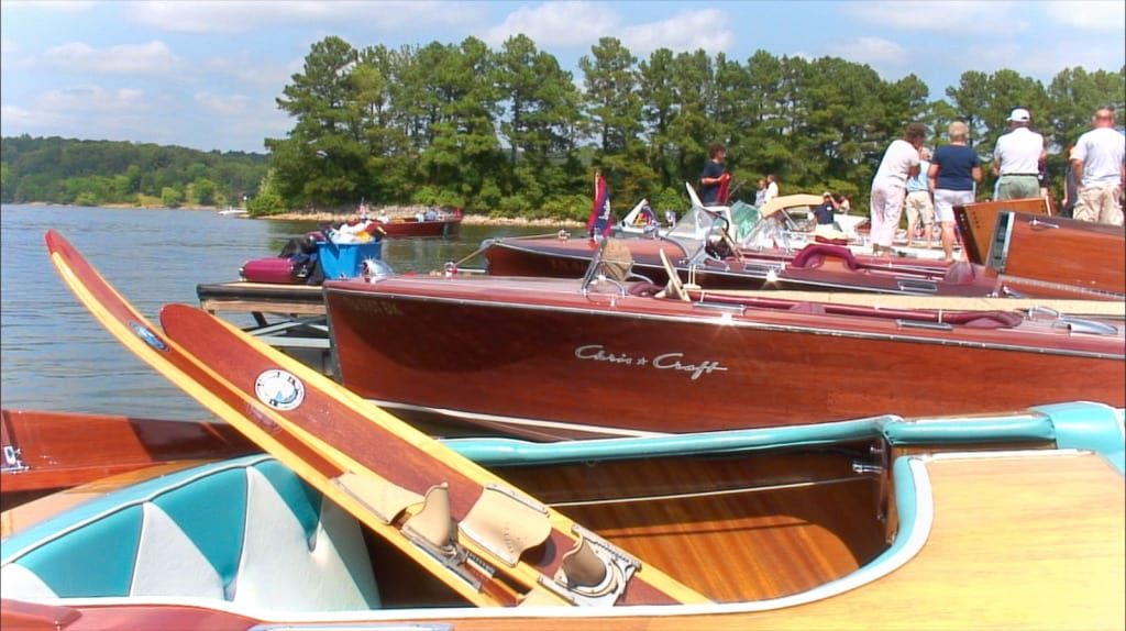 Classic Vintage Boats docked at Lake Barkley Marina
