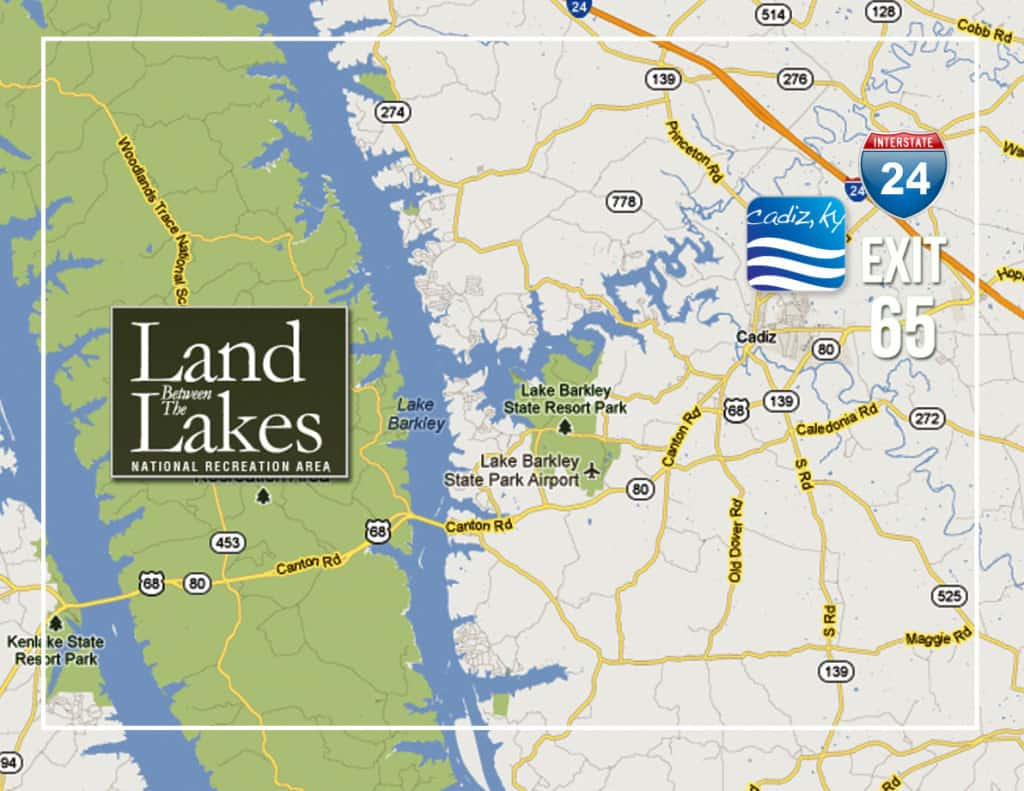 Land Between the Lakes Map