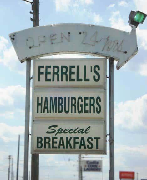 Ferrell's Hamburgers Serves Breakfast All Day