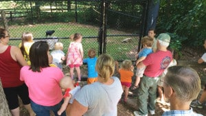 kids-gather-nature-station-vulture-demo