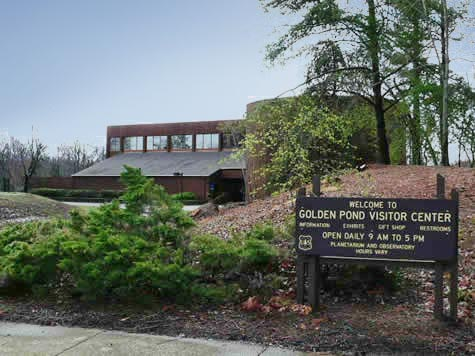 Entrance to Golden Pond Planetarium and Observatory