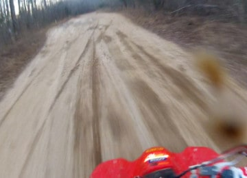 GoPro 4Wheeler Rider Mud on Lens