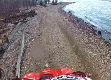 Off road trail borders the Lake's short