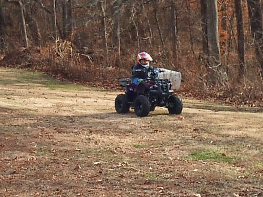 beginner 4wheeler rider